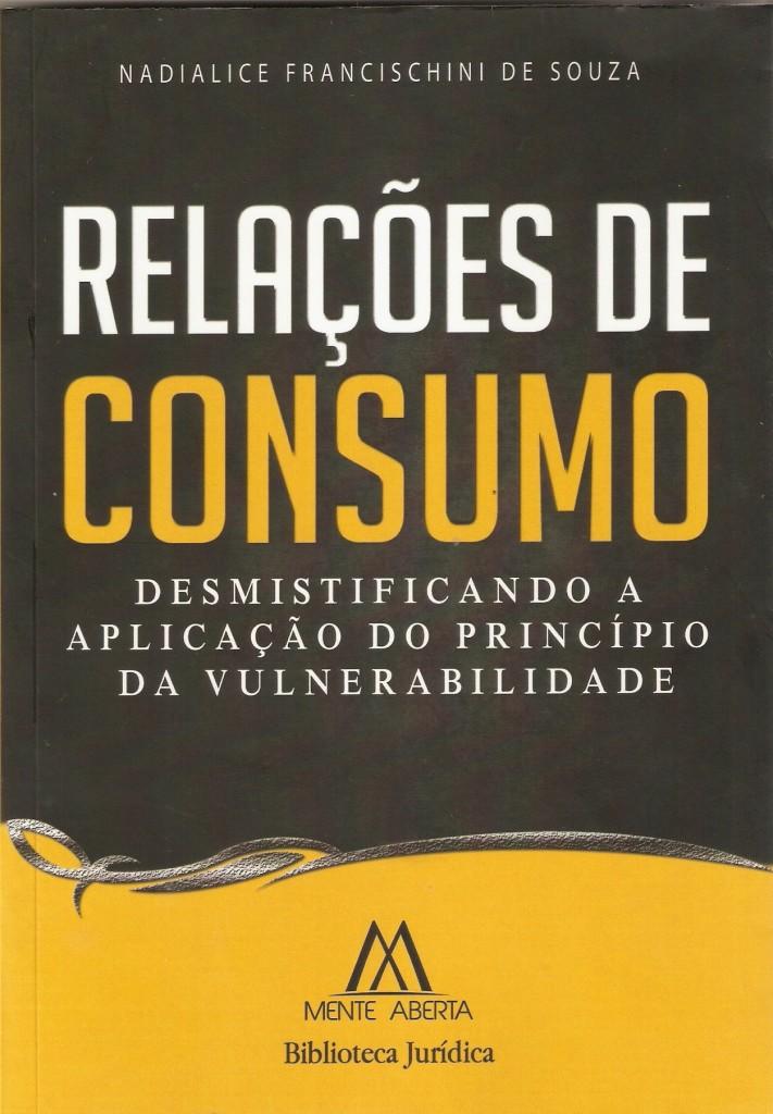 Livro de Direito, Relações de Consumo, Nadialice Francischini, direito do consumidor